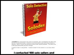 Solo Detective Solodex