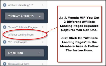 Yoonla Affiliate Landing Pages
